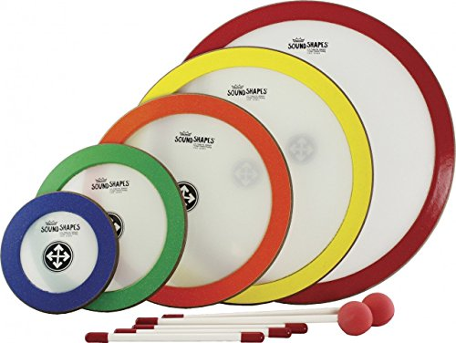 Remo SS1000AH Sound Shapes Arthur Hull Facilitator 25 Piece, 5 Pack Set Circle Kit - Dedicated Colors