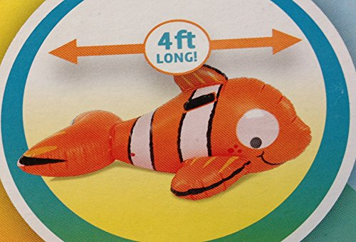 Clown Fish Ride-On Inflatable with Sturdy Handles and Googly Eyes - 4 Ft Long by Play -