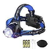 Best Rechargeable Headlamps - LED Rechargeable Headlamp LBJD Super Bright Headlight Review