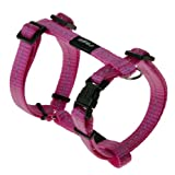Reflective Adjustable H Harness for Small Dogs; matching collar and leash available, Pink