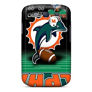 DannyLCHEUNG Samsung Galaxy S3 High Quality Cell-phone Hard Covers Unique Design High-definition Miami Dolphins Series [qLQ9209pXxH]