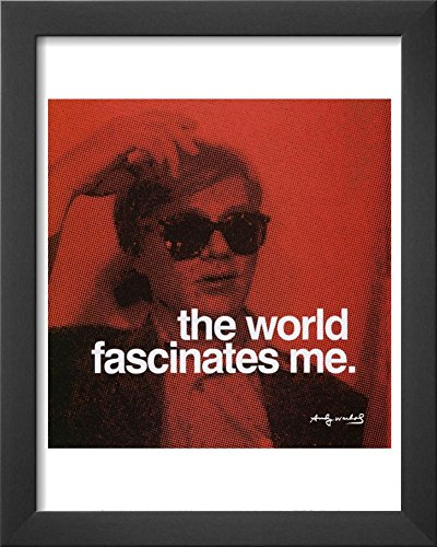 The World Framed Art Print by Andy Warhol 13 x (Andy Warhol Home Revolution)