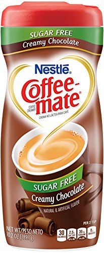 Nestle Coffee-Mate Coffee Creamer Sugar Free Creamy Chocolate, Pack of 1 (10.2 Ounce)