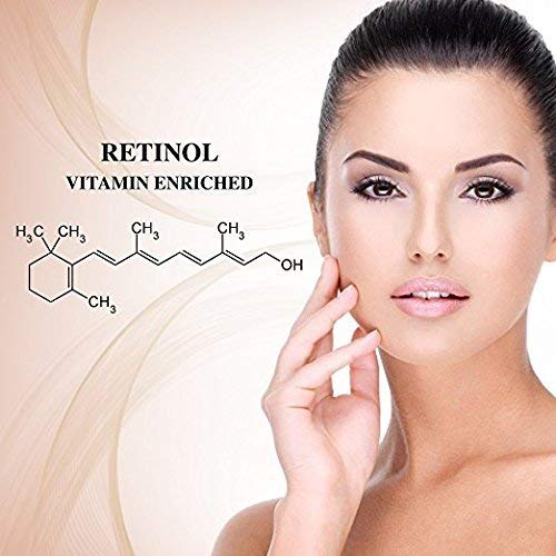 51DKGo nflL - Retinol Moisturizer Cream High Strength for Face and Eye Area Miracle Plus - 2.5% Retinol, Hyaluronic Acid, Vitamin E, Green Tea - Anti aging Formula Reduces Wrinkles, Fine Lines, Spots-Day and Night