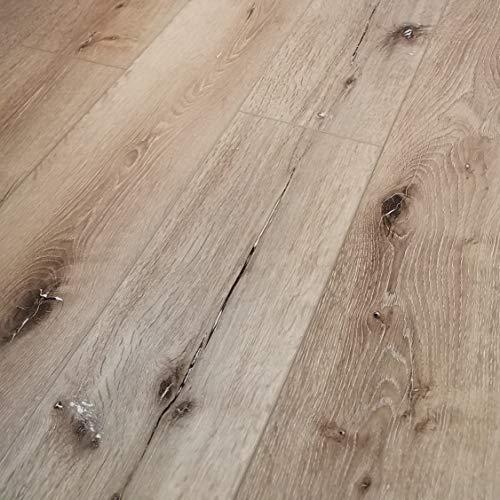 Turtle Bay Floors Waterproof Click WPC Flooring - Wirebrushed European Oak Floating Flooring: 3-Colors (Sample, Atwater)