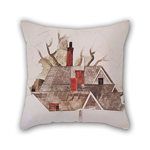Bestseason Oil Painting Charles Demuth - Red Chimneys Pillowcase 18 X 18 Inches / 45 By 45 Cm Gift Or Decor For Teens,drawing Room,bedding,saloon,wedding,her - Twice Sides (Chimney Swift Towers compare prices)
