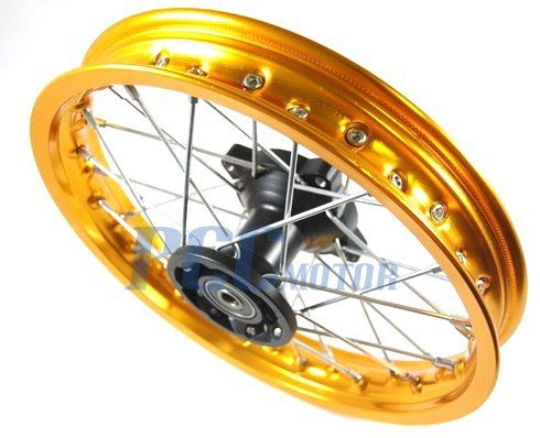 14'' GOLD FRONT RIM DISC BRAKE HONDA SDG SSR 107 110 125 RM08Y