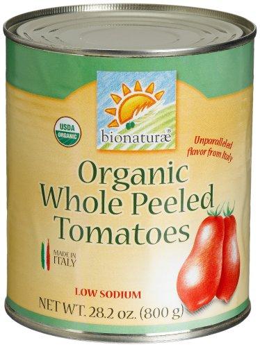 bionaturae Organic Whole Peeled Tomatoes, 28.2 Ounce Tins (Pack of 12) ()