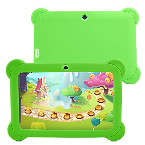 h Android Quad-core Tablet PC, 1024600, Allwinner A33, Google Android 4.4 Tablet with Silicone Protective Cover Case (Green-Green) ()