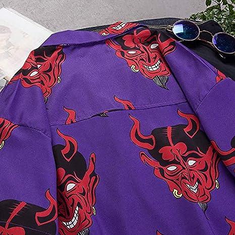 MCYS Camicia Hawaiana da Uomo e Costume da Bagno 3D Uomini Tronchi Casuale Manica Corta Maglietta per la Spiaggia
