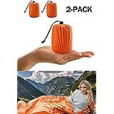 ACVCY 2 Pack Life Bivy Emergency Sleeping Bag Thermal Bivy - Use as Emergency Bivy Sack, Survival Sleeping Bag, Emergency Blanket, Survival Gear - Includes Nylon Sack