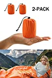 ACVCY 2 Pack Life Bivy Emergency Sleeping Bag Thermal Bivy - Use as Emergency Bivy Sack, Survival Sleeping Bag, Emergency Blanket, Survival Gear - Includes Nylon Sack