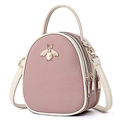 Wallet Phone For Shoulder Handbags Women white Turelifes Zipper Purple Purse Small Bag Bags layer Mini Multi Leather Crossbody wAqz7