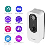 [2018 Newest] Wireless IP Camera, SAFEVANT 100% Wirefree Camera Rechargeable Battery Powered Indoor HD Wifi Wire-Free Security Camera with Two Way Audio and Night Vision