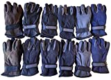 Mens excell Warm Fleece Winter Gloves (12 Pairs Assorted)