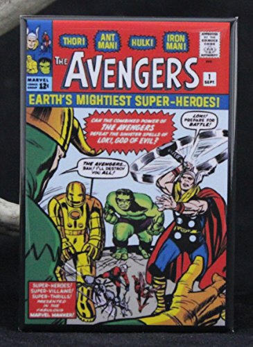 The Avengers #1 Comic Book Cover Refrigerator Magnet