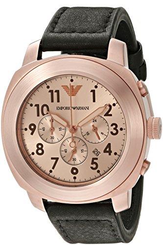 Emporio Armani Men's AR6087 Sport Black Leather Watch