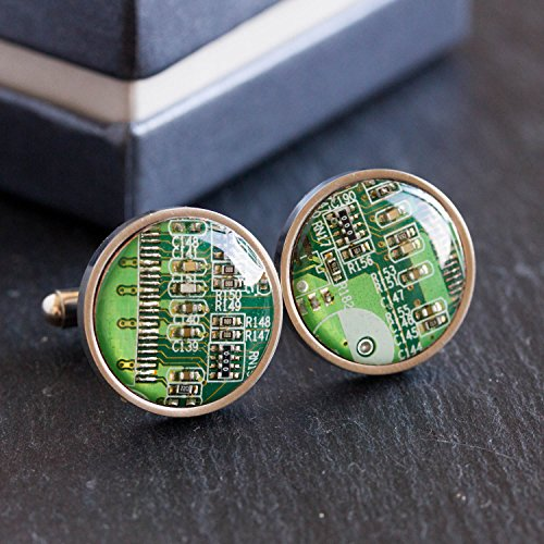Green Handmade Cufflinks - 3