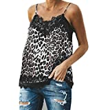 Bohelly ♚ Fashion Sexy V-Neck Cold Shoulder Straps Sleeveless Casual Vest Leopard Zebra Stripes Printed Tops