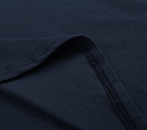 Sleeves Short Neck Skater Knee Dress Crew Pintage Women's Navy Length 7EAq64xw