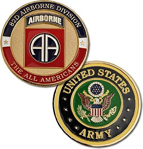 U.S. Army Fort Bragg 82nd Airborne Division Challenge Coin