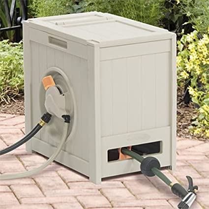 rsh125 crate 125 foot water powered retractable garden hose reel - Retractable Garden Hose Reel