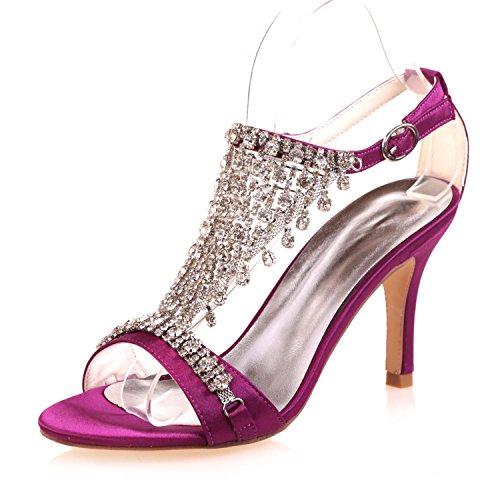 L Plataforma De Zapatos Novia Tarde Novedad 9920 Confort Toe Cristal Purple 06a Peep La amp; yc Noche Mujer gAFr8qUngx