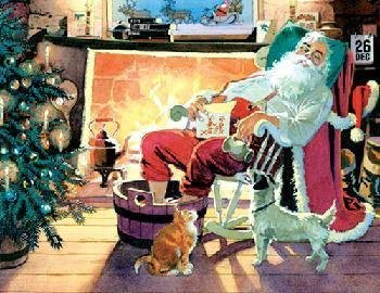 Springbok Relaxing Santa Piece  400 Piece Santa Jigsaw Puzzle by Allied Products, Inc 818a3b