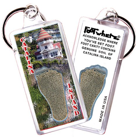 Catalina Island FootWhere Souvenir Keychain. Made in USA (CI102 - - Cottage Catalina