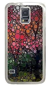 Circles artwork Polycarbonate Hard Case Cover for Samsung S5/Samsung Galaxy S5 Transparent