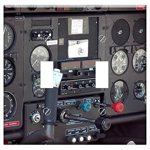 Switch Plate Double Toggle - Airplane Cockpit Aircraft Instrument Panel ()