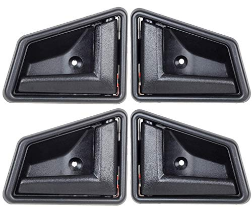 - 1989-1998 Suzuki Sidekick Black Interior Inside Door Handle Front Right Left Rear Set 4pcs