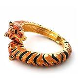 Kenneth Jay Lane Siberian Tiger Bypass Bracelet