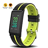 MOREFINE Bluetooth Smartwatch Fitness Activity Tracker Outdoor 0.96'' Sport Bracelet Waterproof Wristband with Color Touch Screen Heart Rate Fatigue Blood Pressure Monitor for Android iOS Health Gift