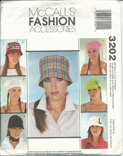 McCall's 3202 Sewing Pattern Misses Fashion Accessories Size (Mccalls Fashion Accessories)