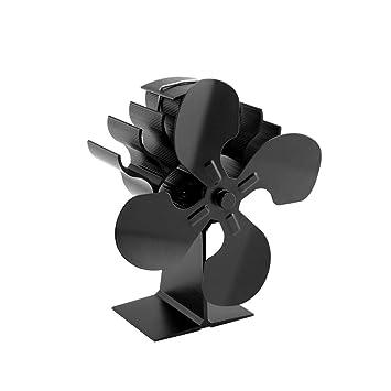 iodvfs - Ventilador Decorativo para Estufa con 4 aspas para Chimenea, Ahorro de Combustible para el hogar y la Oficina: Amazon.es: Hogar