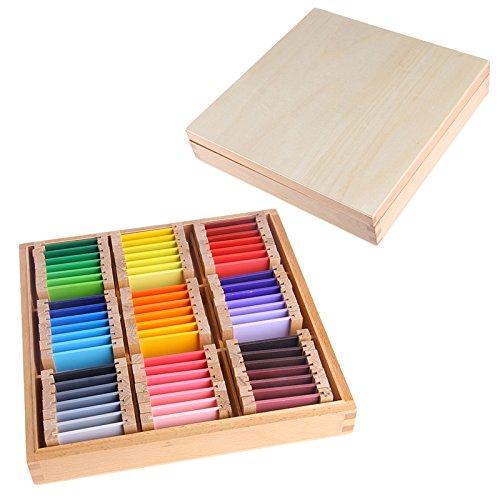 Kofun Montessori Material Sensorial Aprendiendo Tableta de Color Madera Juguete Preescolar 10x10x5.5 cm: Amazon.es: Juguetes y juegos