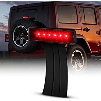 Body Armor 4x4 JK-5120Black Elevated CHSML 3rd Brake Light Kit for Jeep Wrangler YJ TJ and JK