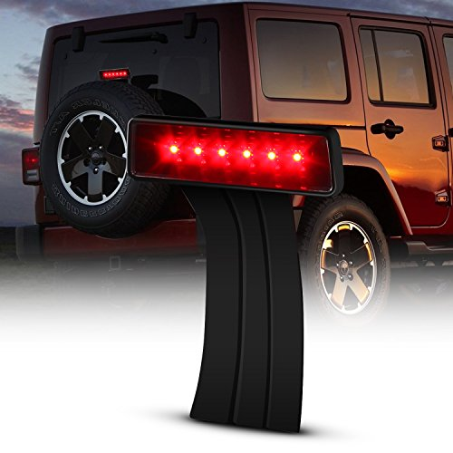 LED 3rd Third Brake Light for 2007-2017 Jeep Wrangler JK Brake Tail Light Lamp High Mount Stop Light Rear