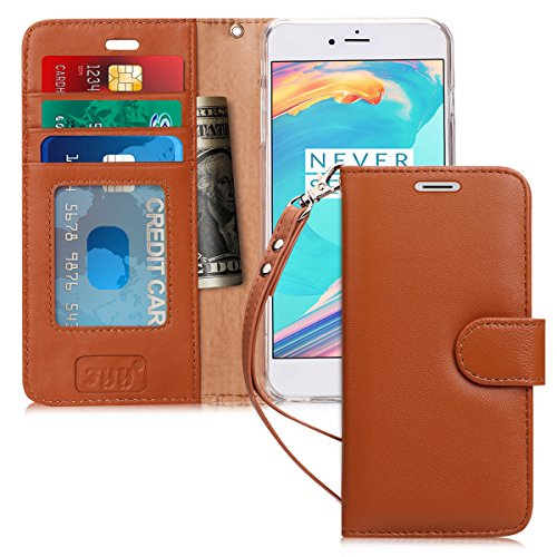 FYY [Luxury Genuine Leather] Wallet Case for iPhone 6S Plus/ iPhone 6 Plus, [Kickstand Feature] Flip Folio Case Cover with[Card Slots]and[Note Pockets]for Apple iPhone 6 Plus/6S Plus (5.5