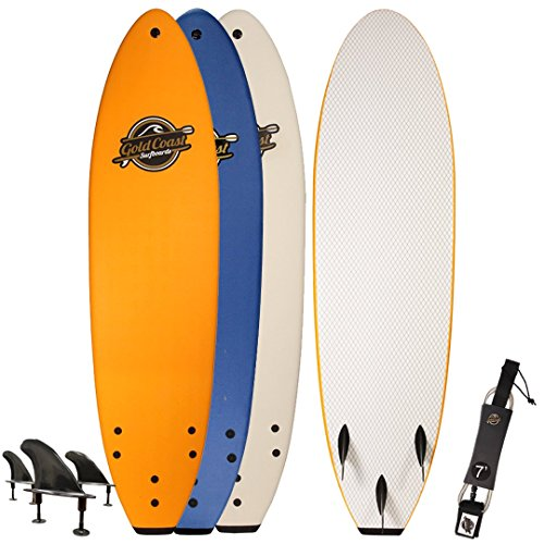 Gold Coast Surfboards Soft Top Surfboard | 7' Ruccus Surf Board | Fun Performance Foam Surf Boards | Great For All Surfing Skill Levels