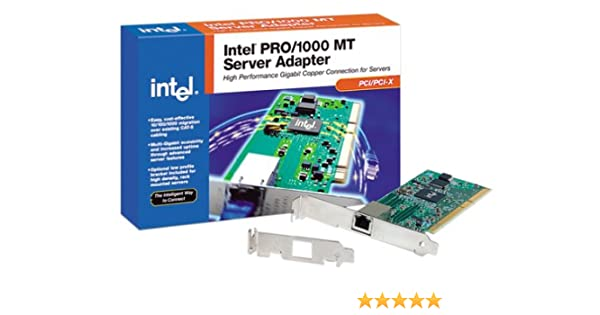 INTELR PRO1000 MT SERVER ADAPTER DRIVERS