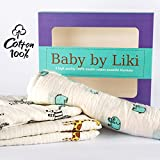 Softest Muslin Swaddle Blankets 3 Pack -