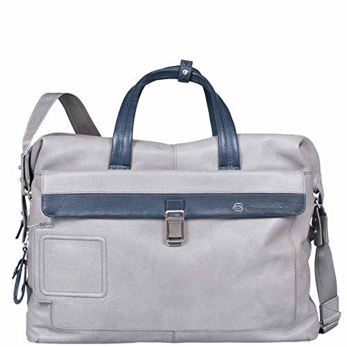 Borsone Piquadro | con aggancio trolley | Linea Vibe | BV2965VI-grigio/blu