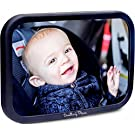 #1 Premium Back Seat Mirror - Clear Reflection & Shatterproof | Monitor your Rear Facing Infant in Car Seat Carrier | Add to your Baby Registry or Buy for a Useful Shower Gift