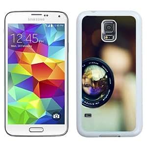 Fashion Custom Designed Cover Case For Samsung Galaxy S5 I9600 G900a G900v G900p G900t G900w Phone Case With 55MM Olympus Camera Lens_White Phone Case