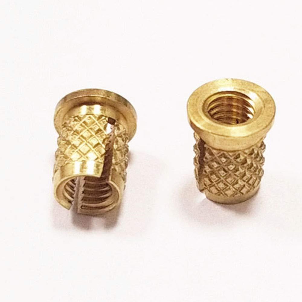 THD .25 Int 6-32 Int Runxinhong Ltd Press-in Threaded Inserts Pack of 50 Lg,Diamond knurling
