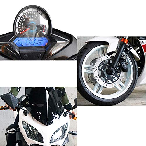 SEADOSHOPPING Outdoor Electric Treadmill Bike,Racing Motorcycle with Big Tyre,Smart Cooling System
