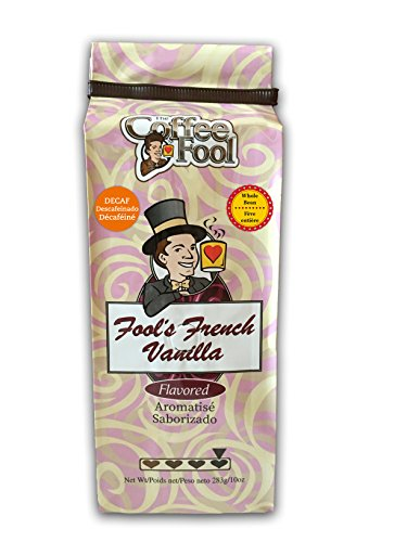 The Coffee Fool Fool's Whole Bean, Decaf French Vanilla, 10 Ounce (Coffee Fool Decaf Whole Bean compare prices)