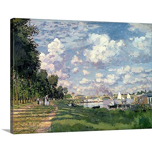 Claude Monet Premium Thick-Wrap Canvas Wall Art Print Entitled The Marina at Argenteuil, 1872 ()